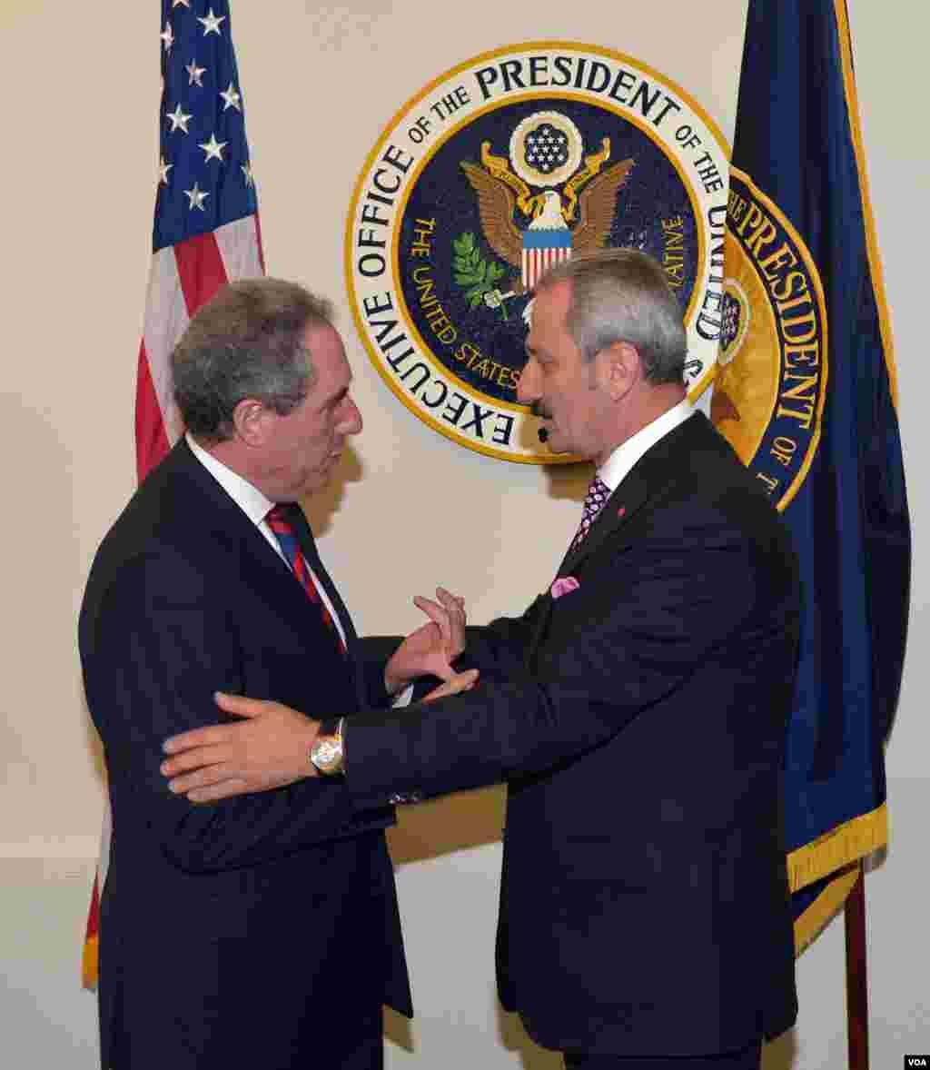 ABD Ticaret Temsilcisi Michael Froman ve Ekonomi Bakanı Zafer Çağlayan