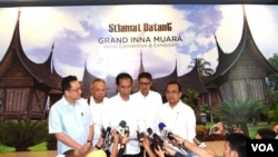 Presiden Jokowi di Padang Sumatera Barat Selasa 5 Juli 2016 menyatakan duka cita kepada pemerintah Arab Saudi atas serangan bom. (Foto: Biro Pers Kepresidenan)