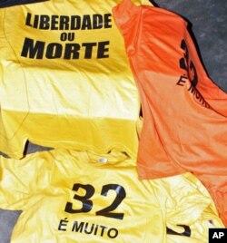 Camisolas mandadas fazer para a manifestação de 2 de Setembro