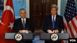 Dışişleri Bakanı Mevlüt Çavuşoğlu ve ABD Dışişleri Bakanı John Kerry