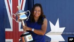 2014年1月26号李娜澳网夺冠照