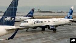 Máy bay của công ty Jet Blue. (Ảnh tư liệu)