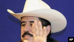 被罢黜的洪都拉斯总统塞拉亚