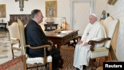 Майк Помпео и папа Франциск