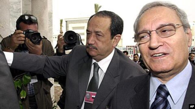 Syrian Vice President Farouk al-Sharaa, right (file photo)