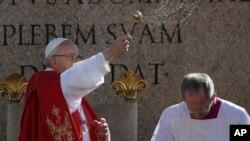 Папа римский Франциск. Ватикан. Рим. 9 апреля 2017 г.