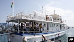 "Un des bateaux de la flottille ""Freedom Flotilla II"""