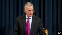 FILE - House Benghazi Committee Chairman Representative Trey Gowdy is seen prior to the start of the committee's hearing on Benghazi, on Capitol Hill in Washington, Oct. 22, 2015.