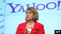 Bà Carol Bartz trong một cuộc họp báo ở New York ngày 24/5/2010. Bà Bartz đã bị Chủ tịch của công ty Yahoo, ông Roy Bostock, sa thải qua điện thoại