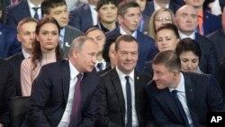Tổng thống Nga tại đại hội đảng Nước Nga Thống nhất mới đây.