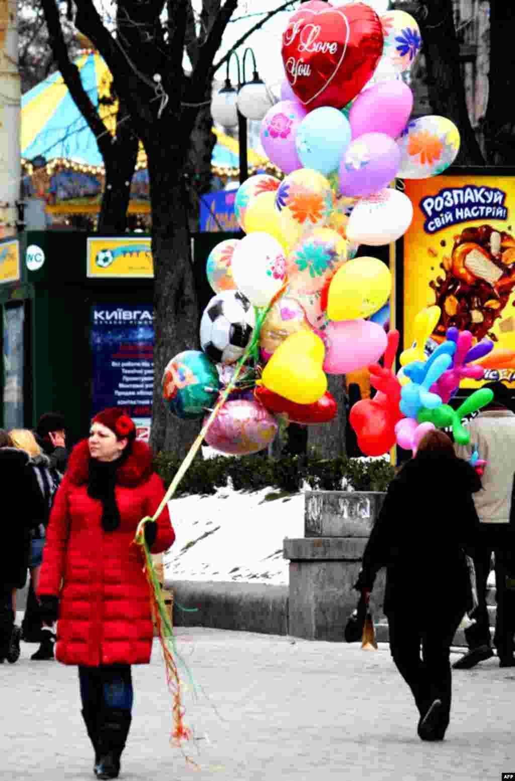 На вулицях української столиці відчувалося свято