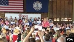 共和黨總統候選人夫人安.羅姆尼在維州爭取女性支持者