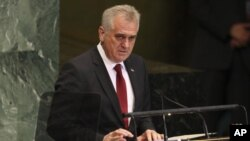Predsednik Srbije Tomislav Nikolić govori na 67. zasedanju Generalne skupštine UN.