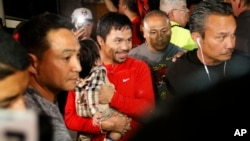 Siêu sao quyền Anh Philippines Manny Pacquiao.