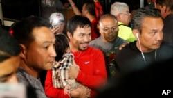 Pacquiao está supuesto a luchar contra el estadounidense Timothy Bradley en Las Vegas el 9 de abril.