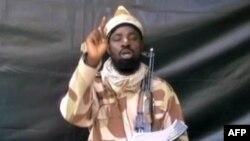 Pemimpin kelompok militan Nigeria Boko Haram Abubakar Shekau mengklaim serangan atas pangkalan militer Nigeria (foto: dok).