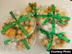 Kue-kue pesanan untuk Lebaran buatan Z Kitchen siap dikirim. (Foto courtesy)