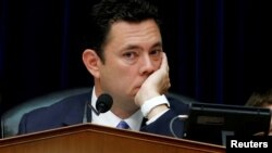 FILE - House Oversight and Government Reform Committee Chairman Jason Chaffetz (R-UT) listens to testimony during a committee hearing about the private email server of Democratic presidential nominee Hillary Clinton, used during her tenure as Secretary