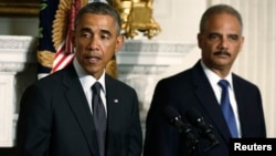 Барак Обама и Эрик Холдер