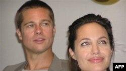 Nữ diễn viên Angelina Jolie và chồng, tài tử Brad Pitt