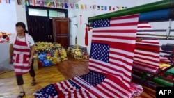 Fabrika američkih zastava u Kini