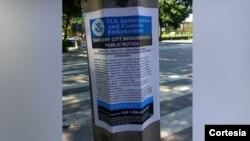 La ciudad de Washington, DC está trabajando con la policía y el departamento de Obras Públicas para retirar todas estas notificaciones falsas que circulan por la ciudad.