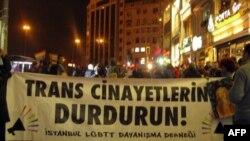 Акция в поддержку прав ЛГБТ-сообщества в Стамбуле.