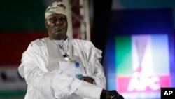 L'ancien vice-président du Nigeria, Atiku Abubakar, lors du congrès du parti du Congrès progressiste à Lagos, Nigeria, 10 décembre 2014