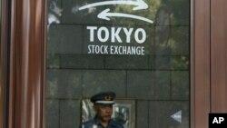 ဂ်ပန္ႏိုင္ငံ၊ တိုက်ဳိ stock Exchange ကုမၸဏီတခုကို ျမင္ရစဥ္။