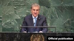 شاہ محمود قریشی جنرل اسمبلی سے خطاب کر رہے ہیں۔