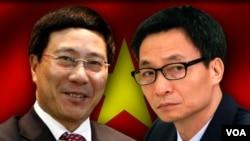 Ông Phạm Bình Minh (trái) và ông Vũ Đức Đam, hai Phó Thủ tướng mới của Việt Nam