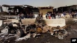 Последствия одного из терактов в Багдаде. 17 февраля 2013г.
