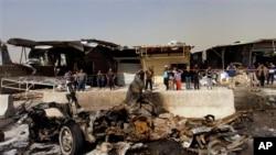 17일 이라크 바드다드 차량폭탄 공격 현장