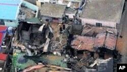 연평도 포격 후 폐허가 된 주택들