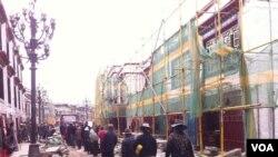 拉薩老城中心環繞大昭寺的八廓轉經道(唯色博客圖片)