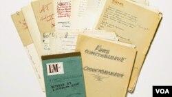 Часть материалов «лота номер 187» – архива Тарковского, выставленного на аукцион