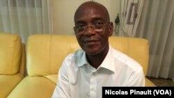 Mamadou Koulibaly, président du LIDER, à son domicile d'Abidjan, le 5 octobre 2016 (VOA/Nicolas Pinault)