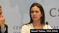 María Corina Marchado recién dio una gira internacional para exponer la crisis política que vive Venezuela.