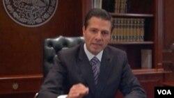 墨西哥总统涅托星期三发表讲话