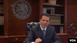 墨西哥總統涅托星期三發表講話
