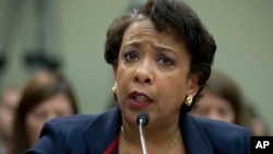 Attorney General Loretta Lynch testifies on Capitol Hill in Washington, Tuesday, July 12, 2016, before the House Judiciary Committee.