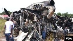 Avião Antonov 32 que se despenhou em Malanje