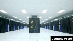 """中国的超级计算机""""神威·太湖之光""""。"""