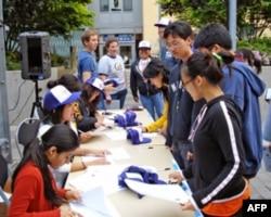 加州伯克利大学学生宿舍区举办活动鼓吹学生参加人口普查