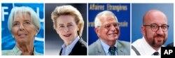 Christine Lagarde, Ursula von der Leyen, Josep Borrell i Charles Michel