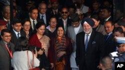 印度外交部长斯瓦拉吉抵达加德满都进行访问(2018年2月1日)