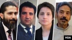 از راست: عبدالفتاح سلطانی، نسرین ستوده، محمد نجفی و امیرسالار داوودی