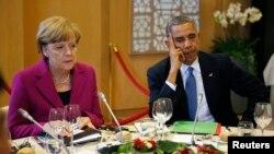Ангела Меркель и Барак Обама (архивное фото)