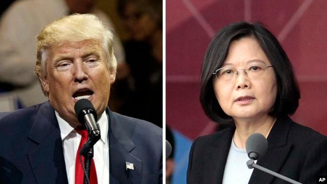 Ông Trump từng khiến Trung Quốc phật lòng với cuộc điện đàm với Tổng thống Đài Loan Thái Anh Văn sau khi đắc cử.