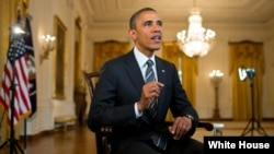 奥巴马总统在每周六发表的广播讲话